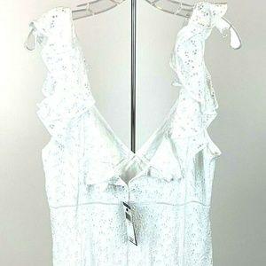 Polo Ralph Lauren Women's Dress White Eyelet Sz 14